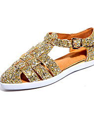 Women's Shoes Synthetic Flat Heel Gladiator/Comfort/Pointed Toe Sandals Outdoor/Dress/Casual Silver/Gold