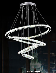 Luxury LED Crystal Pendant Light Ceiling Chandeliers Lighting Lamp Fixtures with 4 Rings D30507090CM