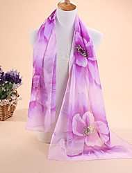Hot selling new Ms fashion large gardenia printed chiffon scarves, scarves beach towels shawls scarf