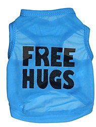 """Lovely """"FREE HUGS"""" Pattern Terylene Vest for Dogs (Assorted Sizes)"""