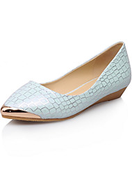Women's Shoes Flat Heel Pointed Toe Flats Office & Career/Party & Evening/Dress/Casual Blue/White