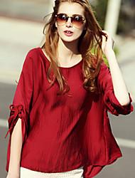 Women Clothing Loose Bat Sleeve Casual Blouse Shirt Tops M-6XL