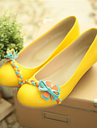 Girls' Shoes Casual Round Toe  Pumps/Heels Blue/Yellow/Pink/White