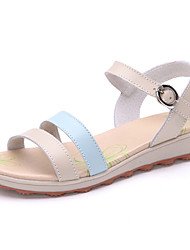 Women's Shoes Leather Flat Heel Comfort Sandals Outdoor/Dress/Casual Blue/Yellow/Red