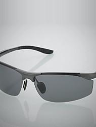 Солнцезащитные очки люди's Легкие / поляризованный обернуть Черный / Серебристый / Коричневый / серый Солнцезащитные очки / Eзда