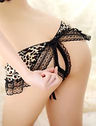 Women's Sexy Leopard Print Lace Panty T-back