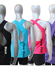Cotton/Lycra  Cross-Back Dance Long Top More Colors for Girls and Ladies