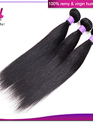 Cheap Brazilian Virgin Hair Straight Human Hair 3 Bundles Straight Hair 8'-30' Inches Natural Black