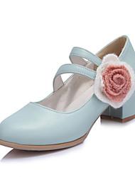 Damen High Heels Pumps Künstliche Mikrofaser Polyurethan PU Frühling Sommer Hochzeit Kleid Party & Festivität Pumps Applikation