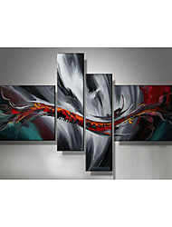 Oil Painting Set of 4 Modern Abstract,Canvas Material with Stretched Frame Ready To Hang SIZE:50*70CM*2PCS 25*70CM*2PCS.