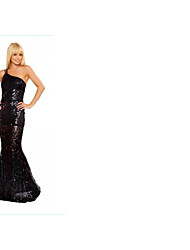 Women's Elegant Strapless Sequin Fitted Party Dress Back/ White/ Red