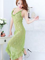 Chemises & Blouses Ultra Sexy Vêtement de nuit Femme Couleur Pleine Dentelle Vert