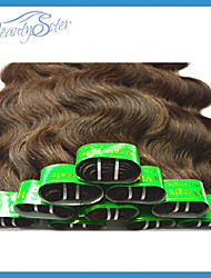 Wholesale 2Kg 40Pieces Lot Cheap 5A Indian Hair Body Wave 100% Human Hair Weaves Bundles Color Brown