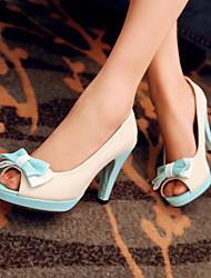 Women's Shoes Heel Heels / Peep Toe / Platform Sandals / Heels Outdoor / Dress / Casual Black / Blue / Yellow / Pink