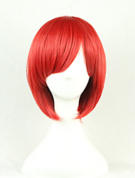 The New Cartoon Color Wig Red FaceShort Straight Hair Wigs