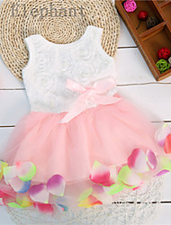 Big Elephant 1pcs New Kids Flower Baby Girls Dress Outfits Sets Skirt Clothes For 0-24M F86 Pink