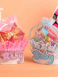 Baby Organza Wedding Favor  Bags Set of 12