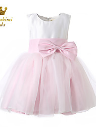 Girl White Pink Short Tulle Party Dress