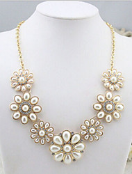New Arrival Fashional Hot Selling High Quality Sun Flower Pearl Necklace