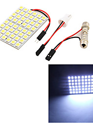 t10 Girlande 8w 500lm 48 x SMD 5050 LED weißes Licht Auto Leselampe / Panel Licht - (12V)