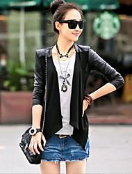 Women's Fashion Slim Leather Jacket PU Leather Jacket