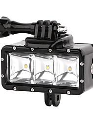 suptig 30m 3-modos de vídeo à prova d'água LED luz de preenchimento luzes de mergulho estabelecidas para gopro hero4 / 3 + / 3/2 - preto
