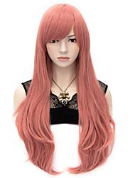 70cm Style Natural Straight Fashion Women Party Wigs Heat Resist Synhtetic Cosplay costume Wig Pink