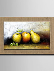 Oil Paintings One Panel Modern Abstract Still Life Fruit Hand-painted Natural Linen Ready to Hang