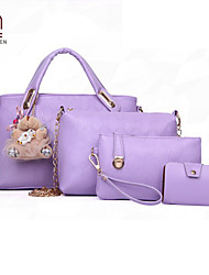 Handcee® Hot Sale PU Four Pieces Woman Fashion Bag