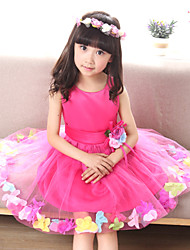 Girl's Summer Cute/Casual Princess Sleeveless Dresses(Headwear not cluded)