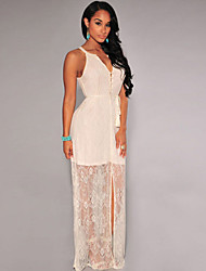 Women's Gorgeous Lace Slit Maxi Dress