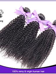 goedkope 7a maagdelijke Indische kinky krullend haar bleekmiddel knopen afro kinky krullend menselijk haar weave hair extensions