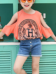 Girl's Strapless Casual Loose T-Shirt