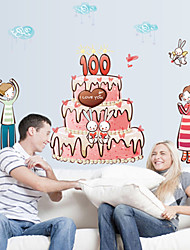 Wall Stickers Wall Decals Style A Hundred Years Good Cake PVC Wall Stickers
