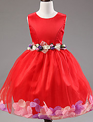Girl's  Fashion Leisure Sleeveless Petal Formal Dress