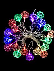 2w 4 metro di diametro esterno 20pcs lampadina led modellazione illuminazione stringa zucche colorate luci, colori rgb