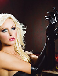 Patent Leather Gloves Punk Hip-Hop Gloves sexy Lingerie Manufacturers  Women Genuine Leather Ultra Sexy Nightwear