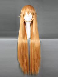 Perruques de Cosplay Shokugeki pas Soma Cosplay Orange Moyen Anime Perruques de Cosplay 70 CM Fibre résistante à la chaleurMasculin /