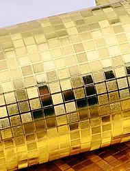 Contemporary Gold Foil Wallpaper Art Deco 0.53m*10m Wall Covering PVC/Vinyl Wall Art