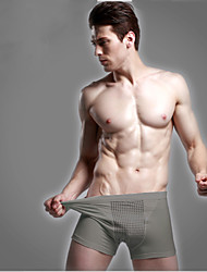 Man's Cotton Boxer Briefs 2015 Man Must Have Hot Fashion Health Care Underwear Breathable Antibacterial Grey