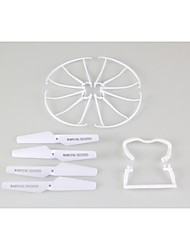 4PCS Blades 4PCS Blade Protecting Frame 4PCS Landing Gear Spare Part For SYMA X5C RC Quadcopter Helicopter Drone