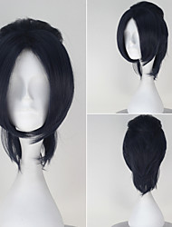 Seraph of the End Rene Simm Synthetic Short Straight Dark Navy Grey Color Anime Cosplay Wig