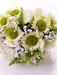 Bouquets ( Weiß , Satin ) - Rundförmig
