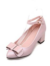 Chaussures Femme - Habillé - Bleu / Rose / Blanc - Gros Talon - Talons / Bout Pointu - Talons - Similicuir