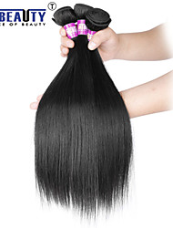 "4 Pcs /Lot 8""-30""7A Brazilian Virgin Hair Straight Human Hair Wefts 100% Unprocessed Brazilian Remy Hair Weaves"