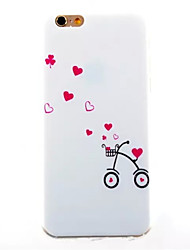 Bicycle Pattern TPU Painted  Soft Back Cover for iPhone 6/6S