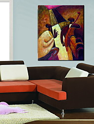 Oil Paintings One Panel Modern  Abstract People Hand-painted Canvas Ready to Hang