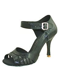 Customizable Women's Dance Shoes Leatherette Leatherette Latin / Salsa Sandals Customized Heel Practice / Beginner / Professional / Indoor
