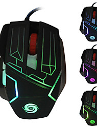 New 5500 DPI 6 Buttons Optical USB Wired Pro Gamer Metal Gaming Mouse Mice with 7 Colors Breathing Light