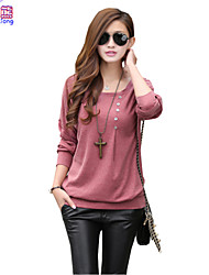 Waboats Women Round Neck Batwing Sleeve Blouse Tunic Shirt